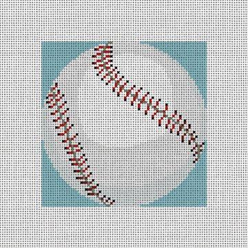 Baseball Needlepoint Ornament Canvas