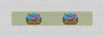 Basket Of Hydrangeas Needlepoint Key Fob Kit