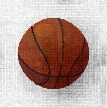 Basketball Needlepoint Ornament Canvas