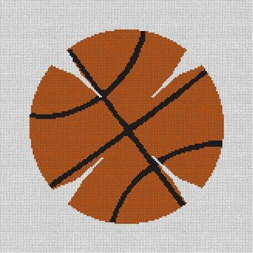 Basketball Yarmulke Needlepoint Kit
