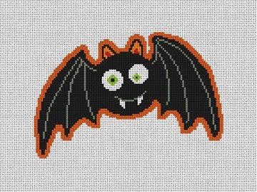 Batty Bat Halloween Needlepoint Ornament Kit