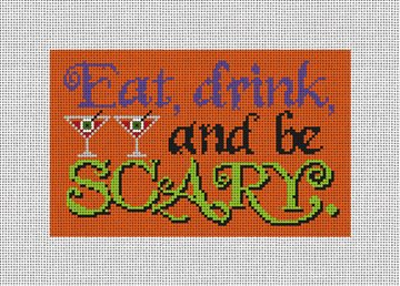 Be Scary Halloween Needlepoint Door Hanger Kit