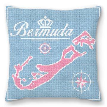 Beautiful Bermuda Needlepoint Pillow