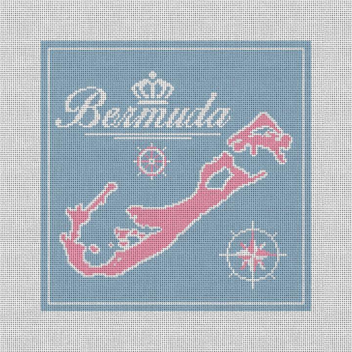 Beautiful Bermuda Needlepoint Pillow Kit