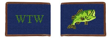 Big Mouth Bass Needlepoint Wallet