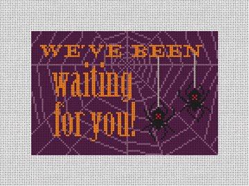 Black Widow Halloween Needlepoint Door Hanger Kit