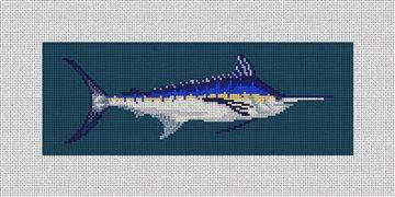 Blue Marlin Needlepoint Wallet Kit