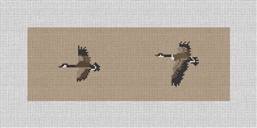 Canadian Geese Needlepoint Wallet Canvas