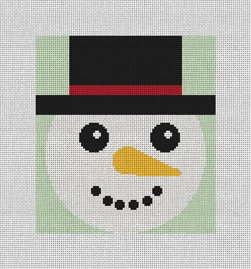 Chilly Snowman Needlepoint Ornament Kit