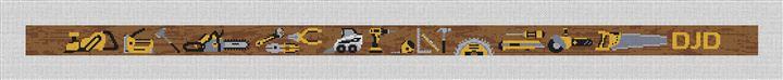 Construction Tools Needlepoint Belt Kit