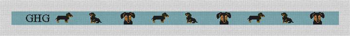 Dachshund Needlepoint Belt Kit