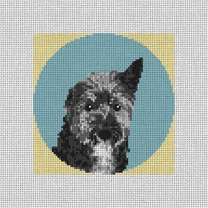 Dandie Dinmont Terrier Needlepoint Ornament Kit