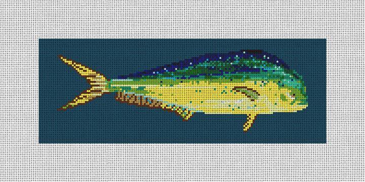 Dolphin Fish Needlepoint Wallet Kit