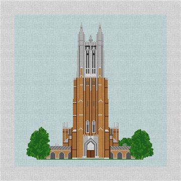 Duke University Chapel Needlepoint Pillow Kit