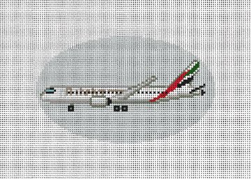 Emirates Airplane Needlepoint Ornament Kit