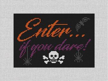 Enter Halloween Needlepoint Door Hanger Kit