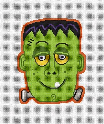 Frankenstein's Halloween Needlepoint Ornament Kit