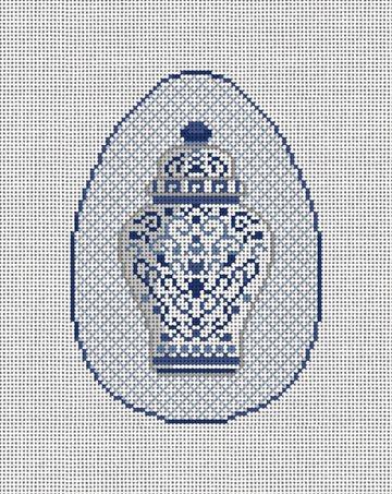 Ginger Jar Chinoiserie Needlepoint Ornament Kit