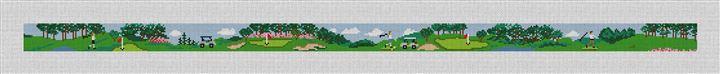 Golf Outing Needlepoint Belt Kit