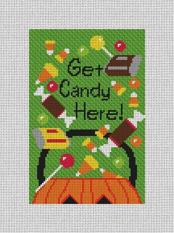 Halloween Candy Needlepoint Door Hanger Kit