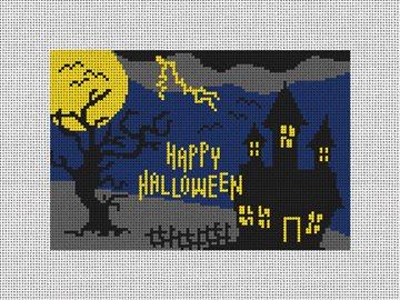 Halloween Night Needlepoint Door Hanger Kit