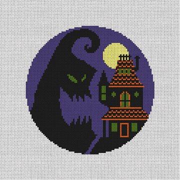 Haunted House Halloween Needlepoint Ornament Kit