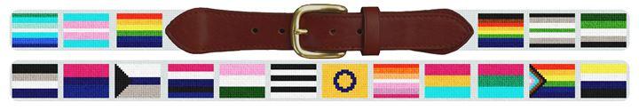 LGBTQ Flags Needlepoint Belt