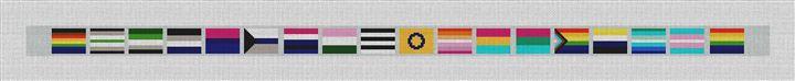 LGBTQ Flags Needlepoint Belt Kit