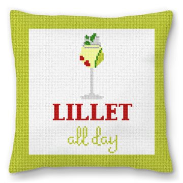 Lillet All Day Needlepoint Pillow