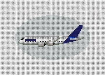 Lufthansa Airplane Needlepoint Ornament Kit