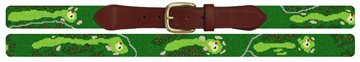 Milburn Country Club Golf Course Needlepoint Belt