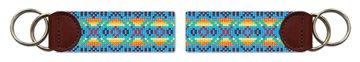 Native American Pattern Needlepoint Key Fob