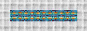 Native American Pattern Needlepoint Key Fob Kit