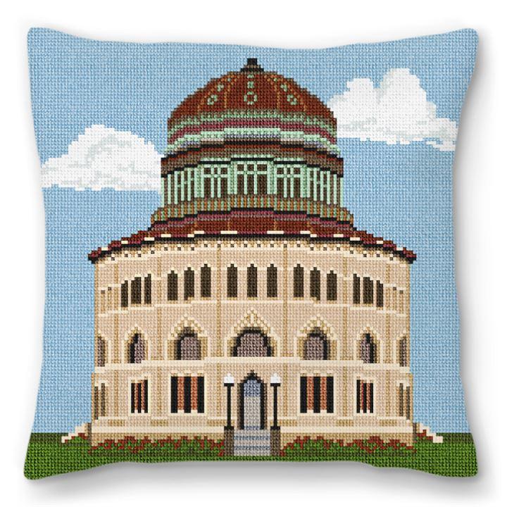 Nott Memorial Hall Needlepoint Pillow