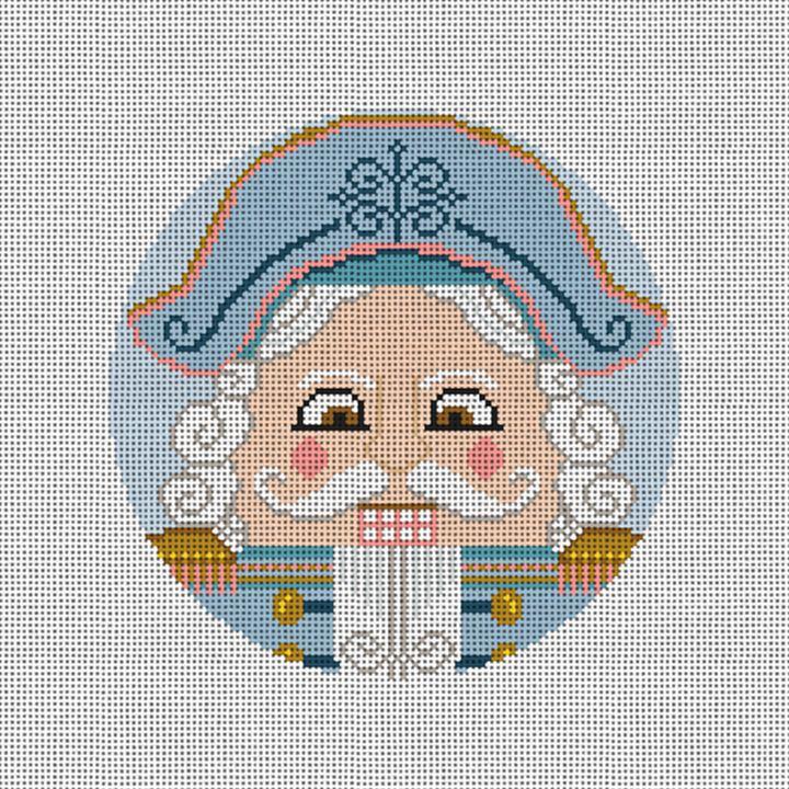 Nutcracker Stefan Needlepoint Round Ornament Kit