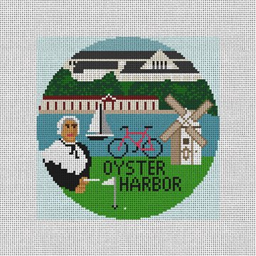 Oyster Harbor Needlepoint Ornament Kit