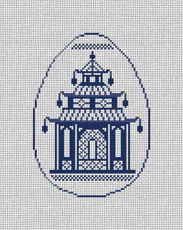 Pagoda Chinoiserie Needlepoint Ornament Kit