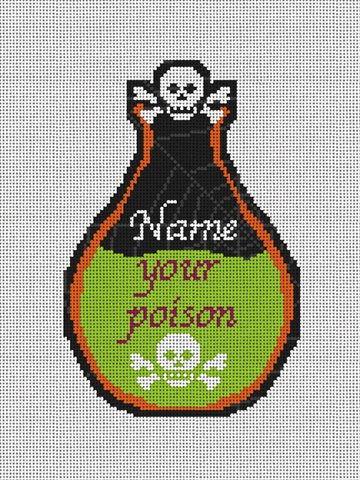 Perfect Poison Halloween Needlepoint Ornament Kit