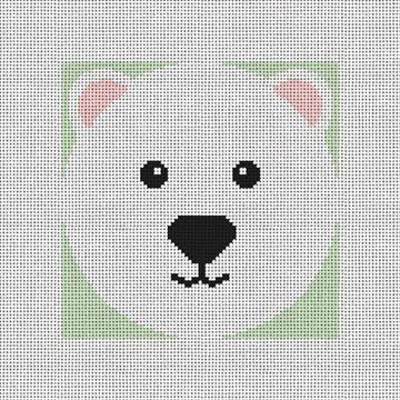 Polar Ice Bear Needlepoint Ornament Kit