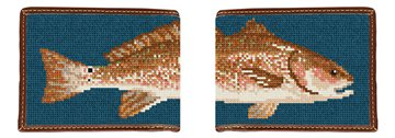 Red Drum Needlepoint Wallet