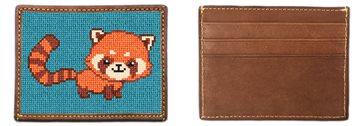 Red Panda Needlepoint Card Wallet