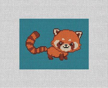 Red Panda Needlepoint Card Wallet Kit