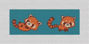 Red Panda Needlepoint Wallet Kit
