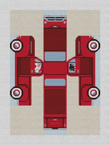 Red Truck Three Dimensional Needlepoint Kit