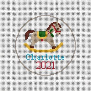 Rocking Horse Needlepoint Ornament Kit