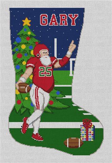 Santa's Touchdown Needlepoint Stocking Kit