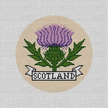 Scottish Thistle Needlepoint Ornament Kit