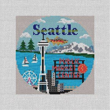 Seattle Needlepoint Ornament Kit