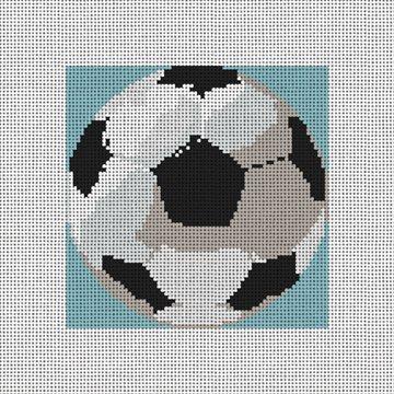 Soccer Ball Needlepoint Ornament Canvas