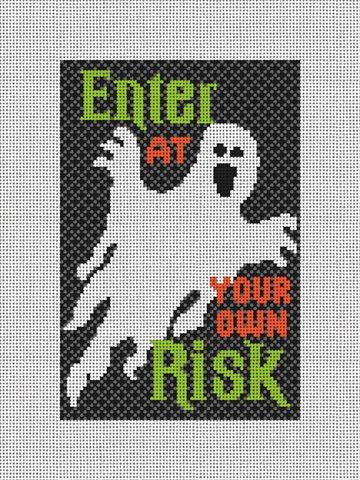 Spooky Halloween Needlepoint Door Hanger Kit
